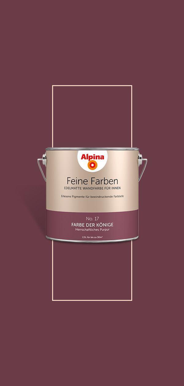 Alpina Feine Farben Farbe Der Konige In 2020 Mit Bildern Feine Farben Wandfarbe Alpina Wandfarbe