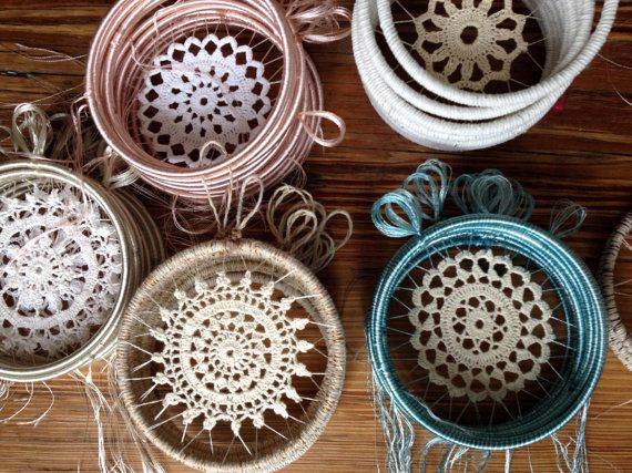 Custom Handmade BOHO Dreamcatchers: Crochet Doily by CleanSl8