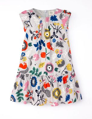Boden (Fall 2014) Pretty Printed Cord Dress (size 7-8 y) - with a cardigan and some tights ... super cute!