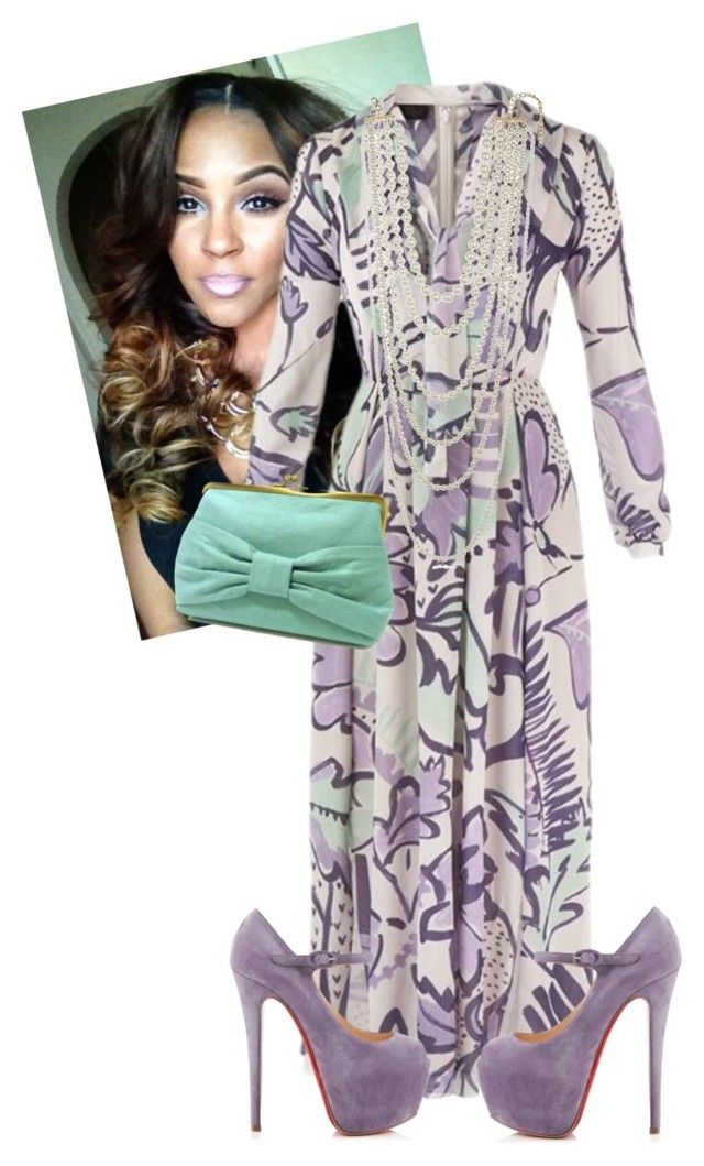 """Sunday Morning!!!!"" by cogic-fashion ❤ liked on Polyvore featuring Burberry, Christian Louboutin and Kenneth Jay Lane"