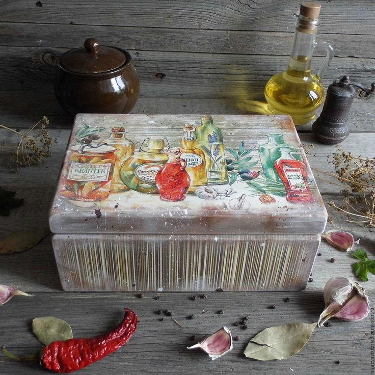 """Купить """"Вкус Тосканы"""" Большой деревянный короб ОЛЬХА - прованс, лаванда, деревенский стиль, кантри"""