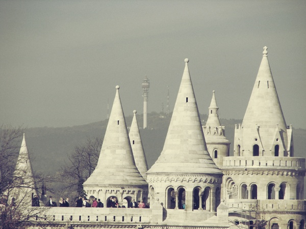 Towers of Fisherman's Bastion, Buda Castle