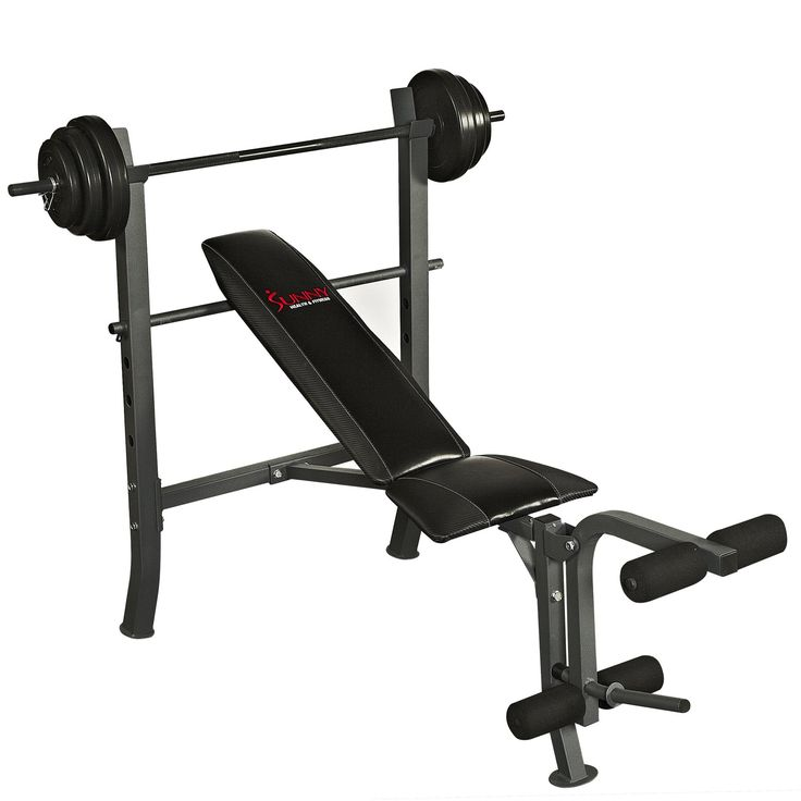 Sunny Health & Fitness SF-BH6510 100LB Weight/Bench Set - SF-BH6510