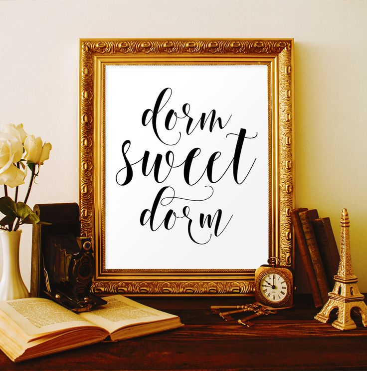 Dorm sweet dorm decor Dorm room decor Dorm room wall decor College dorm decorations Dorm girl Dorm wall art Dorm poster College student gift by ViolaMirabilisPrints on Etsy