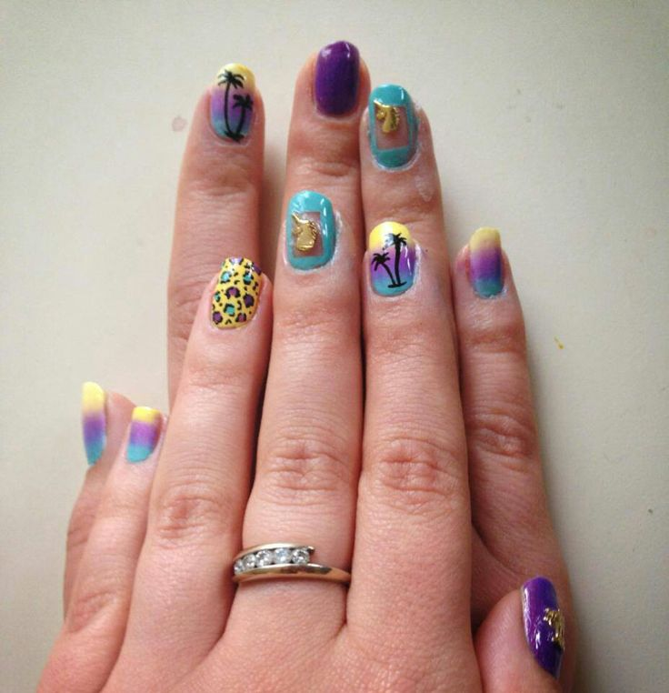 50 best my nail art images on pinterest nail designs nail art leopard gradient and palm tree tutorials at nail art 101 prinsesfo Image collections