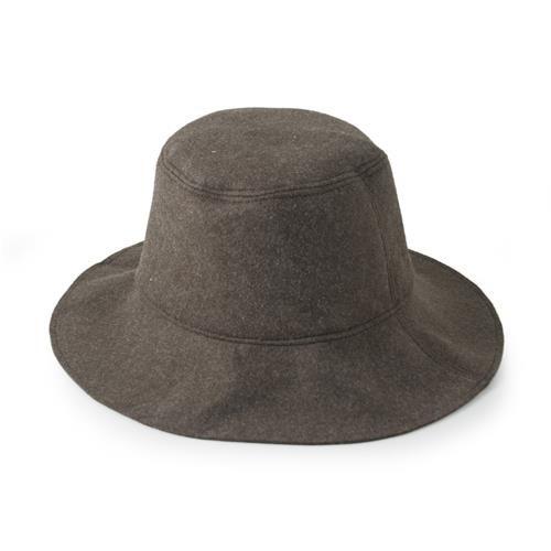 cappello in lana cotta, verde militare