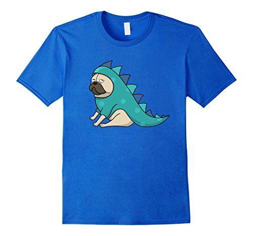 Mens Something Ordinary: Dino Pug T-Shirt Medium Royal Bl... https
