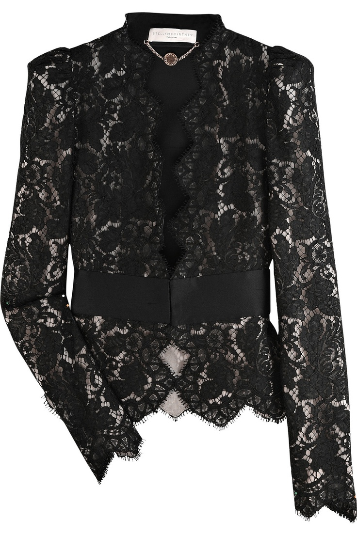 Stella McCartney | Puff-shouldered lace jacket | NET-A-PORTER.COM