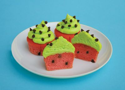 More Watermelon Cupcakes