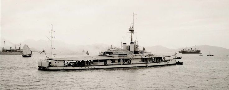 HMS Tarantula, an Insect class Gunboat, built by Wood, Skinner & Co, Newcastle upon Tyne & launched in 1915. Was one of 4 gunboats towed to serve on the Tigris in 1916. After WW I was towed to China to join the China Station. About  1940 she was moved from Singapore to Trincomalee, where due to her state of disrepair she was used as offices, briefly serving as Admiral Bruce's flagship of British Pacific Fleet in '44. Sunk as target practice on 01/05/46 by HMS Carron & HMS  Carysfort.