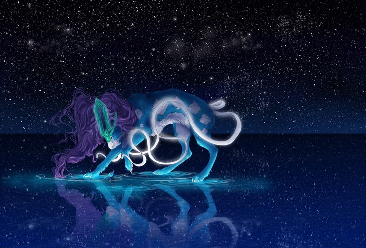 The North Wind----Suicune is my absolute favorite legendary Pokemon----Art by Aunumwolf42----Suicune, Pokemon, Horsea, crystal, soulsilver, game, nintendo, digital art, photoshop,  http://www.redbubble.com/people/aunumwolf42/works/15979011-the-north-wind?p=laptop-skin