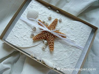 Starfish Wedding Invitations, Handmade Beach Wedding Invitations