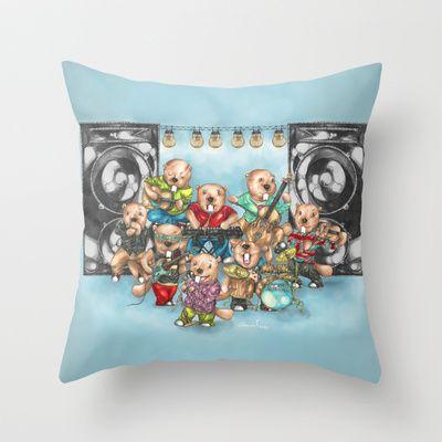 The Bobie Sox Band Throw Pillow By Alexandra Davidoff On