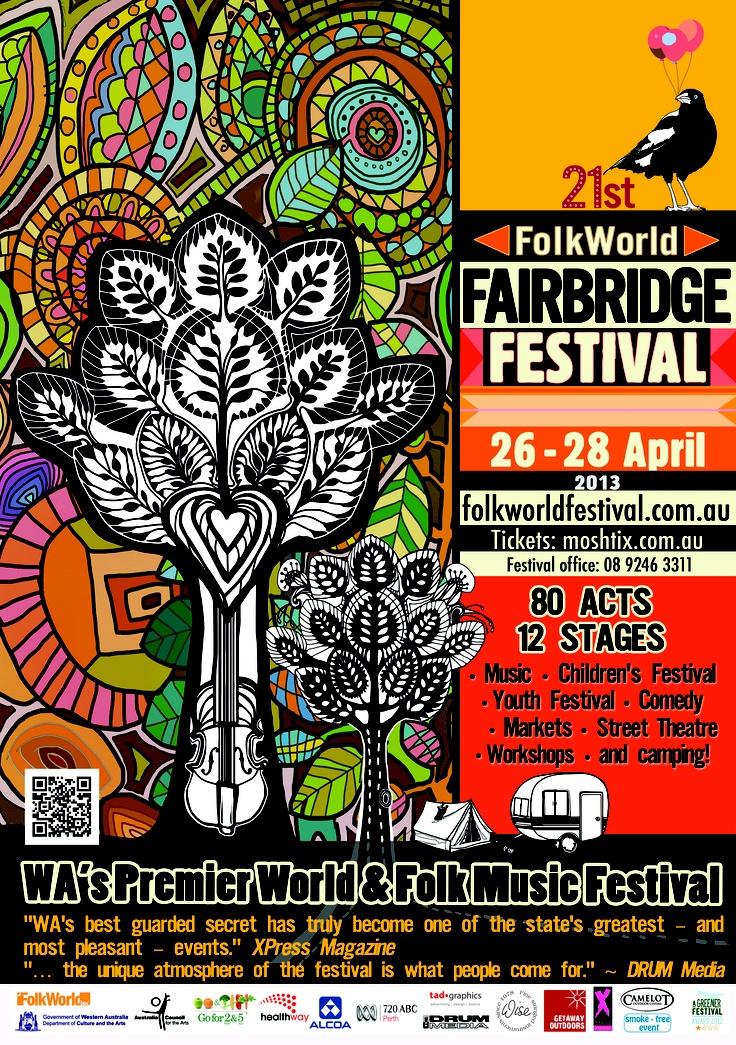 2013 Fairbridge Festival poster design