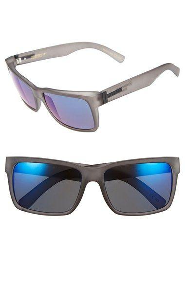 Women's VonZipper 'Elmore' 61mm Polarized Rectangular Sunglasses - Charcoal/ Astro Glo Polar