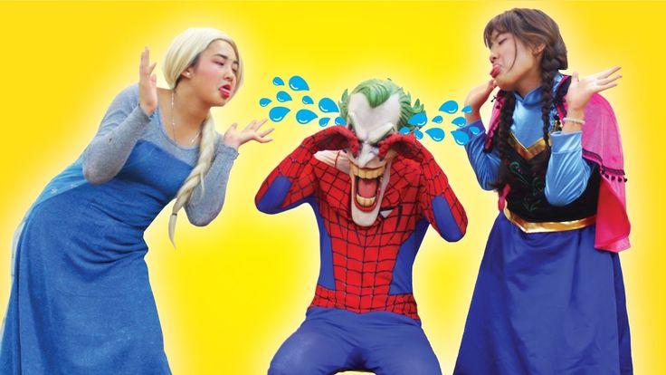 Joker Pranks Frozen Elsa vs Anna! Spiderman and Black Spiderman! Fun Superhero in Real Life Joker Pranks Frozen Elsa vs Anna! Spiderman and Black Spiderman! Fun Superhero in Real Life Watch more of our Spiderman and Frozen Elsa vs Superheroes videos: Spiderman Frozen Elsa & Superheroes in Real Life: https://www.youtube.com/playlist?list=PLQa7kdJlc3KHVYHenBIJxFPvhXcEvsGXw Frozen Elsa & Spiderman GO TO SCHOOL! w/ Maleficent Teacher Joker: https://youtu.be/2A6SR1YuuEk Spiderman & Frozen Elsa…