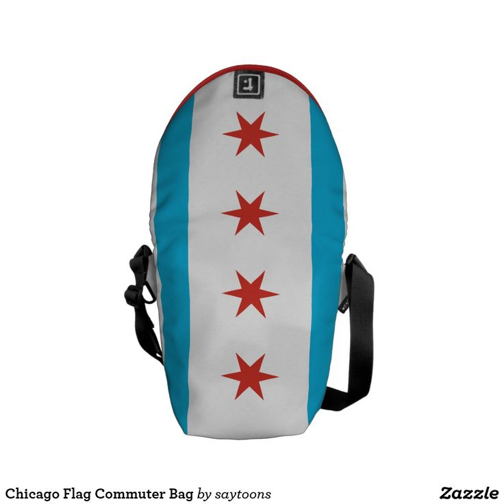 Chicago Flag Commuter Bag #chicago
