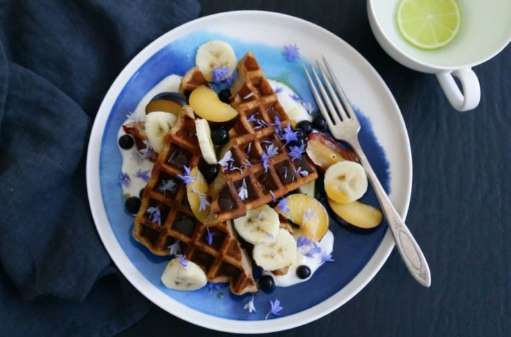 Here's a healthy waffle recipe to celebrate International Waffle Day