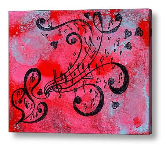 Music painting music art love painting abstract music notes painting this is a limited edition fine