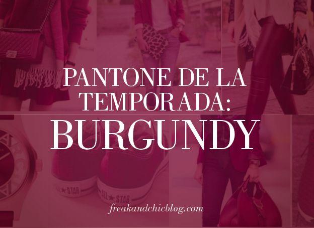 Cada temporada viene cargada de colores y este año definitivamente el invierno se lo llevó el color Burgundy. #pantone #burgundy #tendencia de la temporada