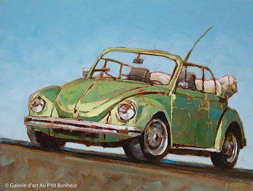 Susie Cipolla, 'Over The Hill', 12'' x 16'' | Galerie d'art - Au P'tit Bonheur - Art Gallery
