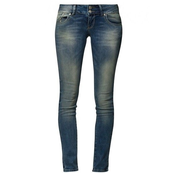 LTB MOLLY Slim fit jeans mainson wash ($68) ❤ liked on Polyvore featuring jeans, pants, bottoms, blue, pantaloni, women's trousers, blue jeans, mens jeans, slim jeans and blue slim jeans