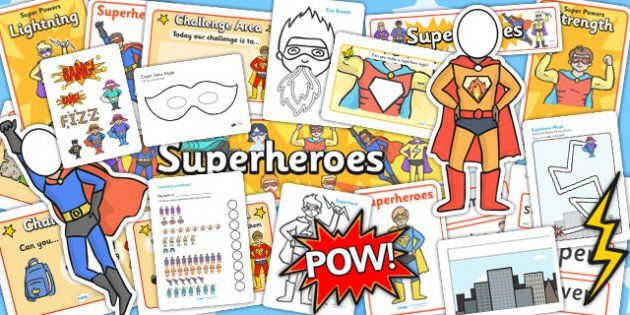 TWINKL link. Superheroes EYFS Lesson Plan Ideas and Resource Teaching Pack