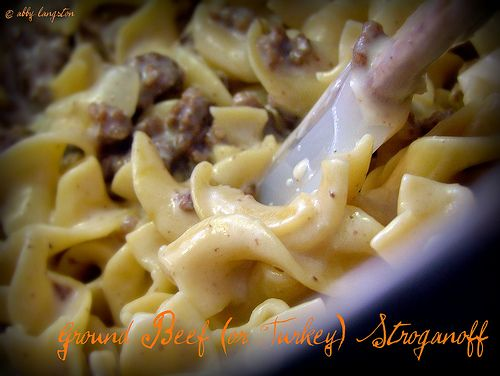 Ground turkey stroganoff {quick, easy dinner. added extra spices for a nice kick}: Quick Easy Dinner, Recipe, Easy Dinners, Extra Spices, Food, Turkey Stroganoff, Ground Turkey