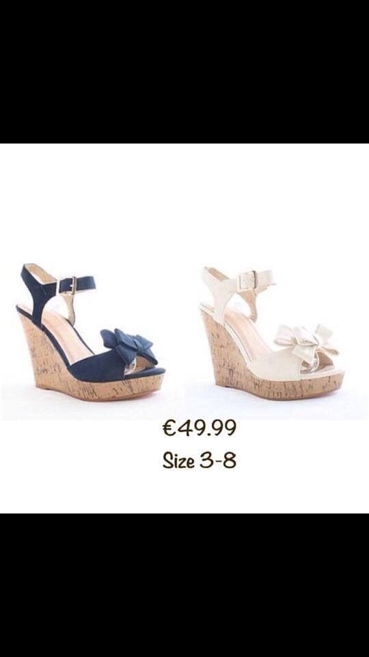 Get Summer Ready in these gorgeous wedges available in navy or cream