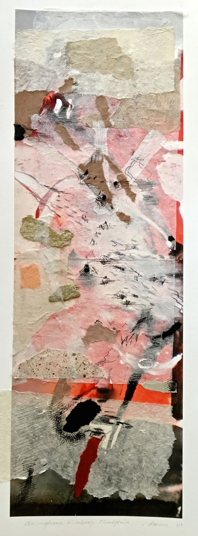 Elaine d'Esterre - Anbangbang Billabong Flood Plain, 2017, digital print and collage, 75x25 cm. Also ART BLOG at http://elainedesterreart.com/ and http://www.facebook.com/elainedesterreart/ and http://instagram.com/desterreart/