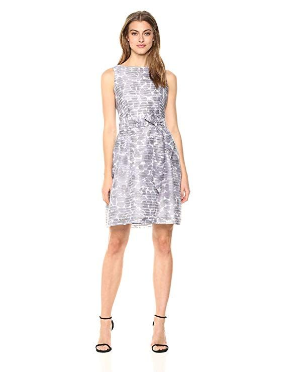 Anne Klein Women S Printed Shadow Stripe Fit Amp Flare At