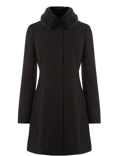 Sophia Faux Fur Collar Coat