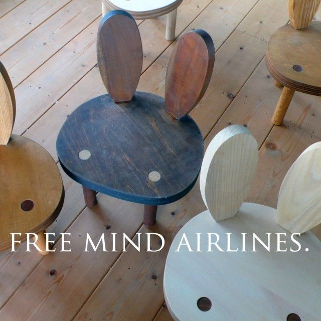 Bunny chairs. Seems like an easy woodworking DIY. So cute.