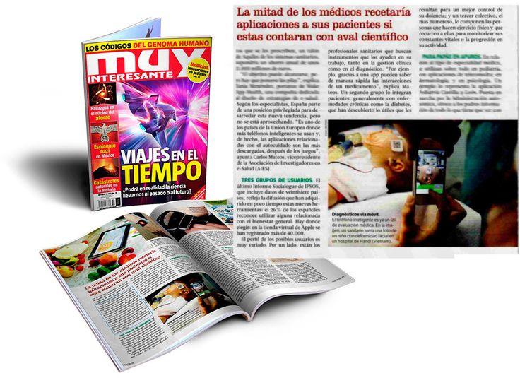 Artículo publicado en Muy Interesante sobre apps de salud con declaraciones de Carlos Mateos