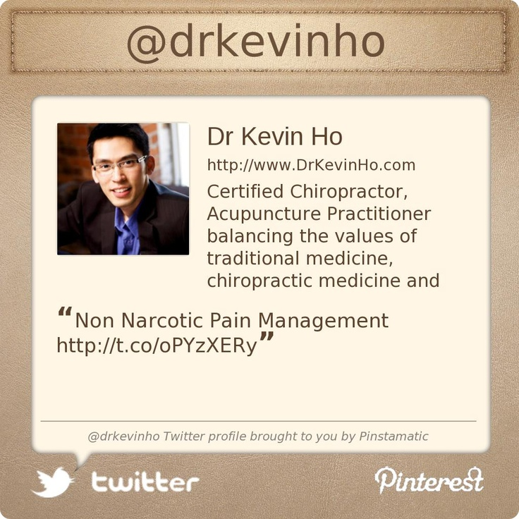 @DrKevinHo Transforming your pain for a healthier tomorrow