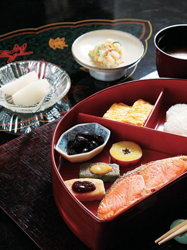 Japanese Ryokan Breakfast, Kyoto, Japan