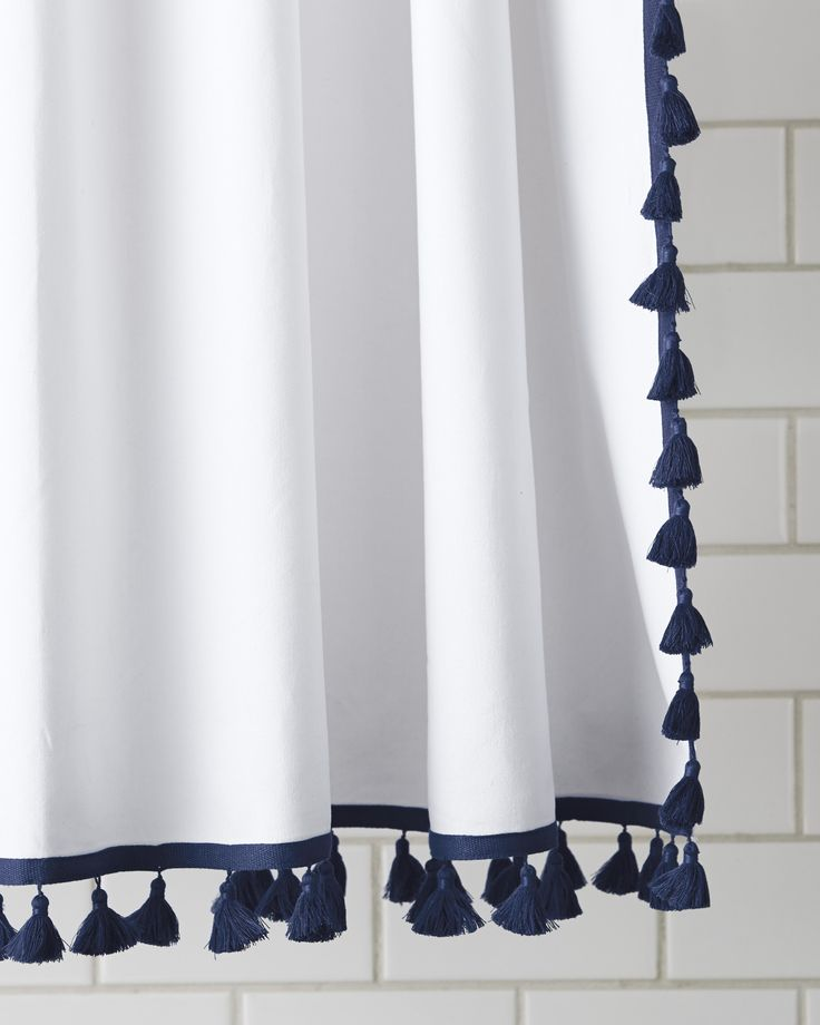 Superior French Tassel Shower Curtain Design Inspirations