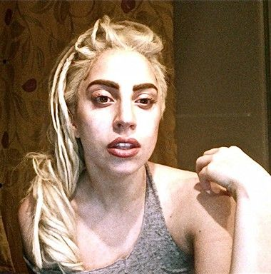 Lady Gaga sin maquillaje