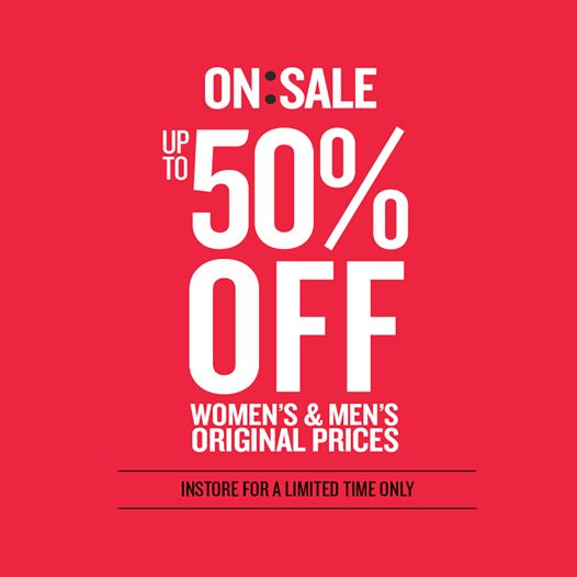 Cotton On is 'ON SALE' - Up to 50% Off the original price of Men's  Woman's merchandise! But hurry, this in-store sale is for a limited time only!