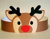 Reindeer Paper Crown - Printable