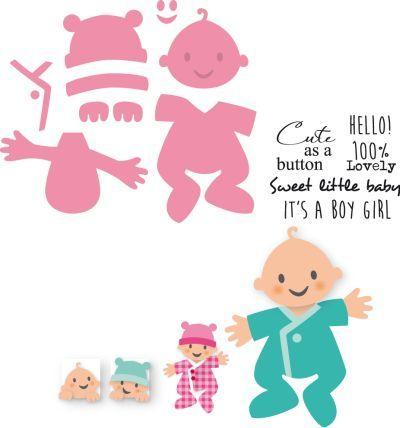 Col1387 Eline's Baby - Marianne Design Collectables - Marianne Design Mallen - Hobbynu.nl