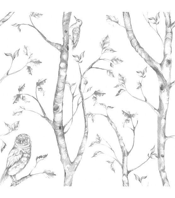 WallPops®NuWallpaper™ Gray Woods Peel And Stick Wallpaper