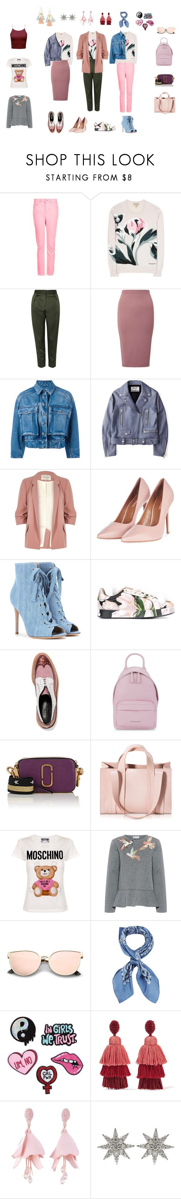 """Albina"" by lar-ra on Polyvore featuring Topshop, Burberry, Miss Selfridge, Dolce&Gabbana, Acne Studios, River Island, Gianvito Rossi, Robert Clergerie, Givenchy и Marc Jacobs"