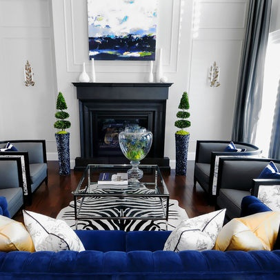 Living Room Navy Blue Grey Cream Design Ideas Pictures Remodel And Decor