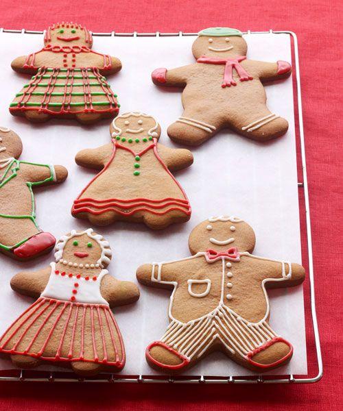 Paula Deen's Gingerbread Boys and Girls Recipe - GoodHousekeeping.com #recipes #kids