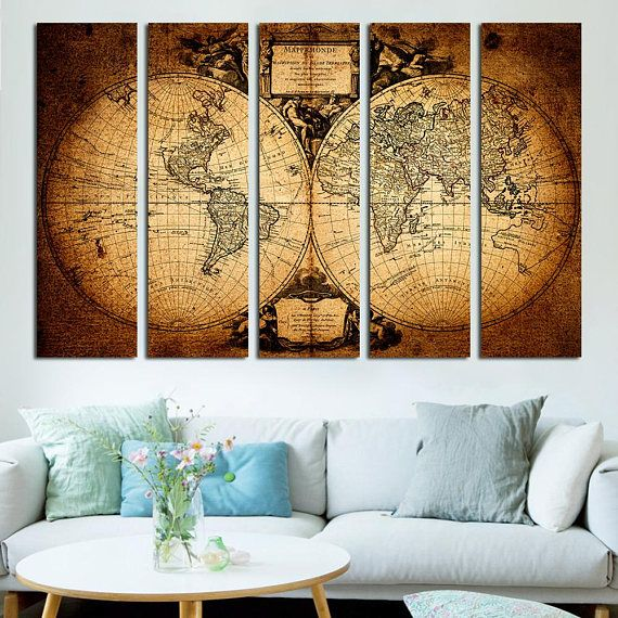 Old World Maps Vintage map home decor Wall Hangings #art #print #giclee @EtsyMktgTool http://etsy.me/2kXwvmo