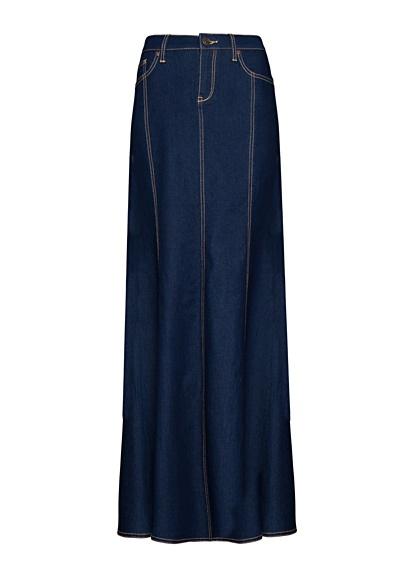 MANGO - Denim rok in zeemeermin stijl