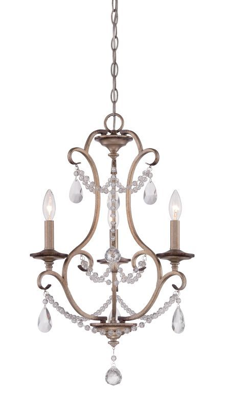 Designers Fountain 86083 Gala 3 Light 1 Tier Mini Crystal Chandelier 36 Chain Argent