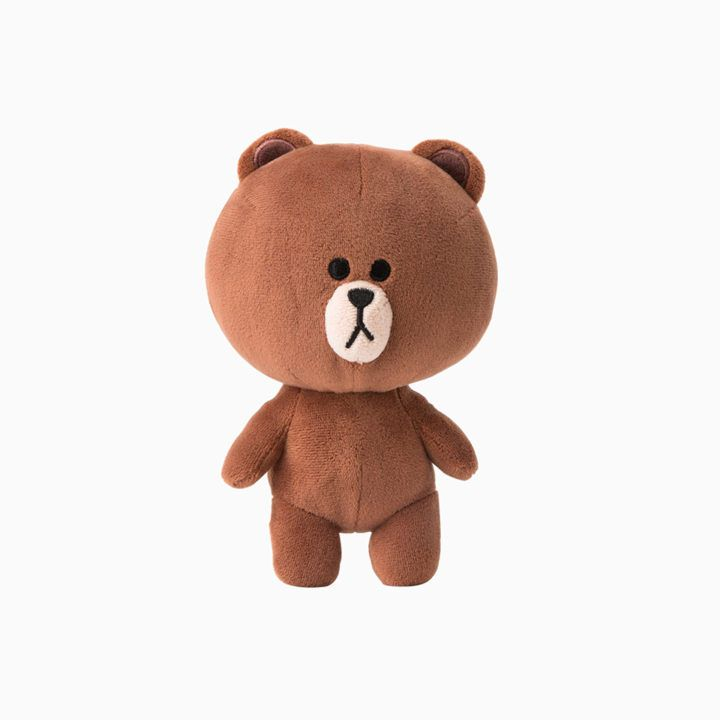 "LINE FRIENDS Character Plush Doll Toy BROWN Season 4 Bear 18cm 7"" Official Goods #LINEFRIENDS #DollswithClothingAccessories"