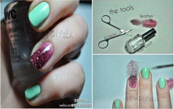 Real Feather Nails